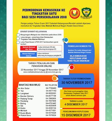 Semakan Keputusan Maktab Mahmud Tingkatan 1 2018