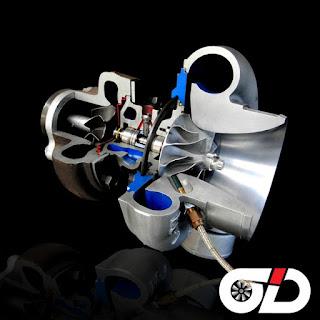 Sezione turbocompressore con inserito sensore giri turbo