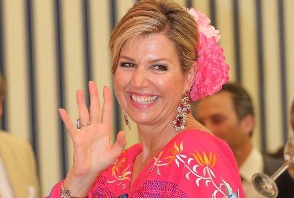 Queen Maxima, Princess Catharina-Amalia, Princess Ariane, Princess Alexia wore Fabiola Flamenco dresses