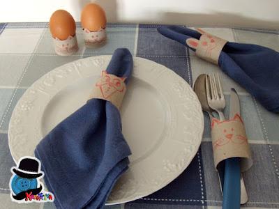 tavola di pasqua per bambini