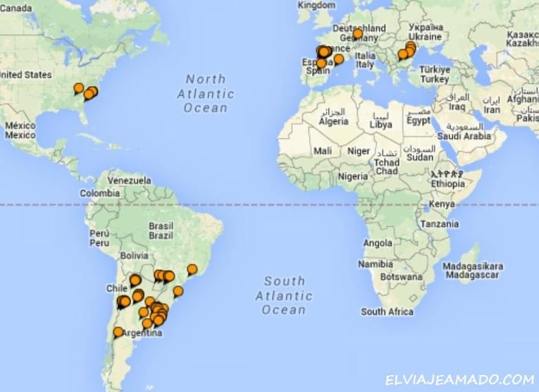 Como Crear Un Mapa De Paises Visitados Para Tu Blog El Viaje
