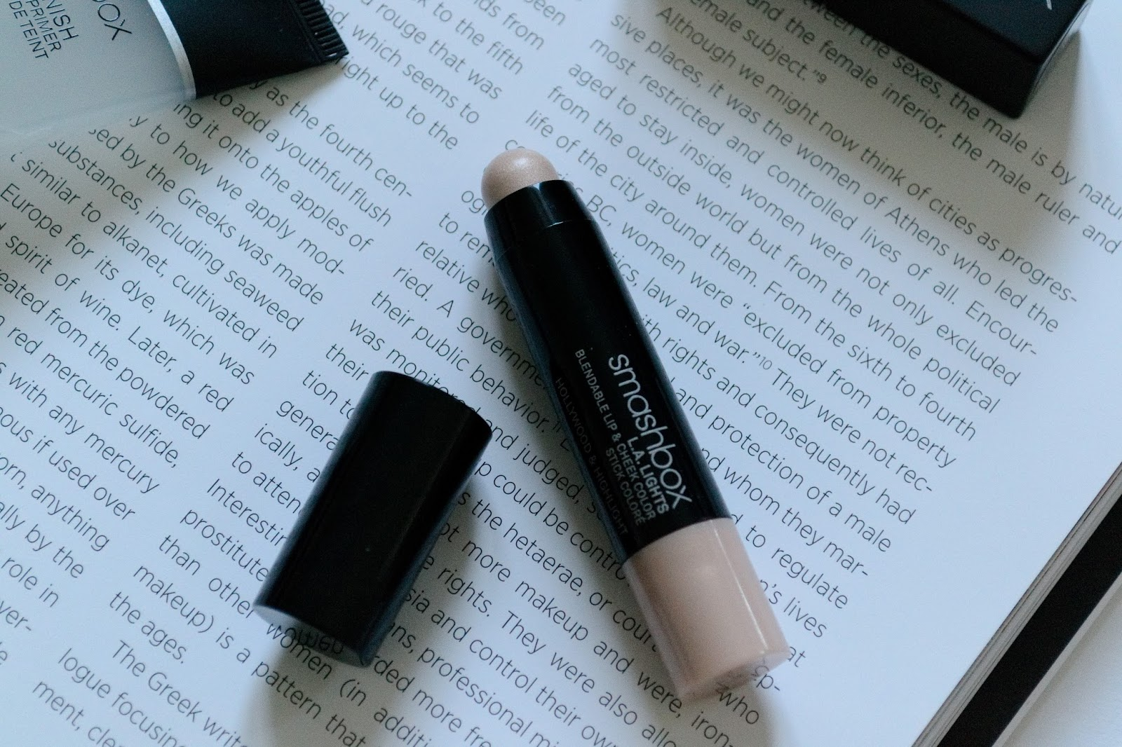 Smashbox L.A. Lights Blendable Lip & Cheek Color Highlighter Hollywood & Highlight Review - Aspiring Londoner