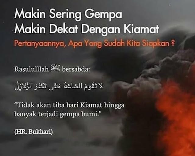 """Hadist Rasulullah Saw, """"Tidak Akan Tiba Hari Kiamat Hingga Banyak Terjadi Gempa Bumi""""!"""