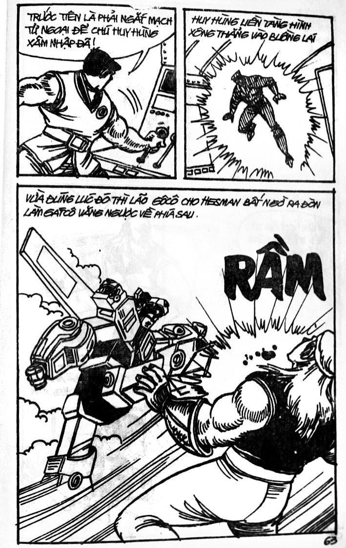 Dũng Sĩ Hesman tập 121 - chạy trốn tử thần trang 62
