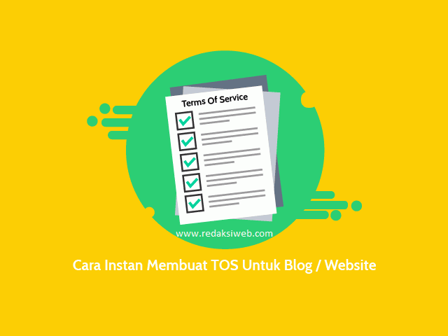 Berikut ini merupakan cara gampang menciptakan halaman Term Of Service TOS untuk blogspot Cara Praktis Membuat Terms Of Service (TOS) Untuk Blog atau Website