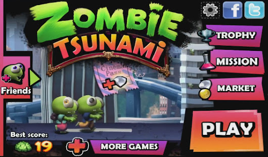 No 1 Top Android Games - Zombie Tsunami