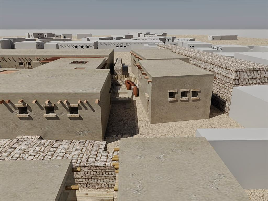 Houses of the first egyptians reconstructed the for Modern mud house architecture
