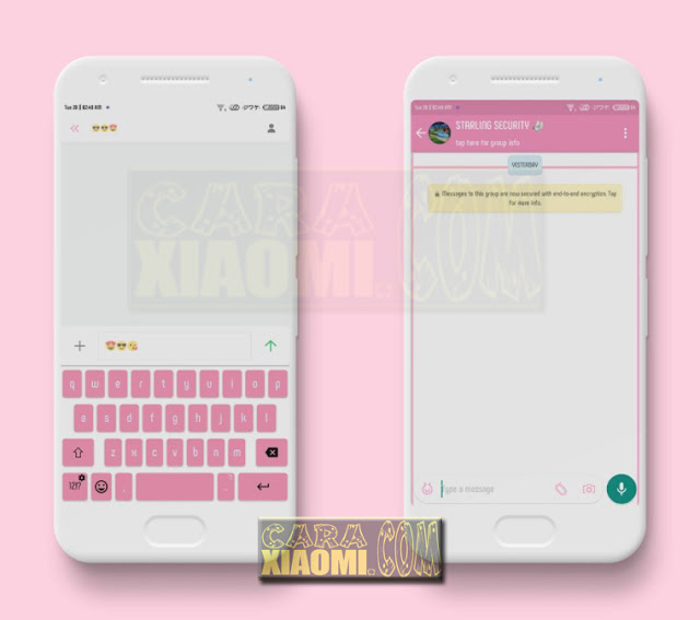 Download Theme MIUI Pink Flat Reborn