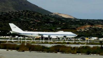 Τι κάνει το «προεδρικό» αεροσκάφος των ΗΠΑ στη Σούδα και συγκεκριμένα στην 115 ΠΜ; (φωτό)