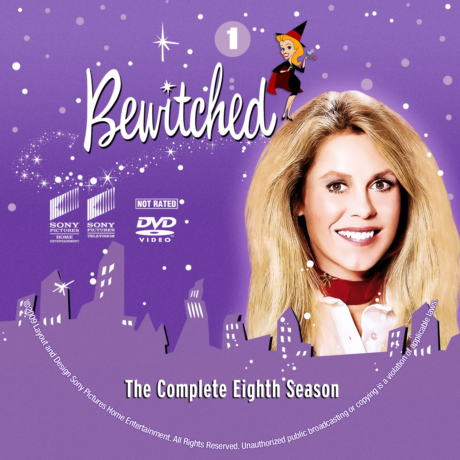 Bewitched Season 8 Disc 1-4 DVD Label