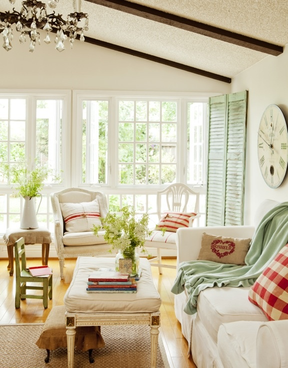 Home Tour, French Garden House, French Country Home Tour At Poofing The  Pillows,