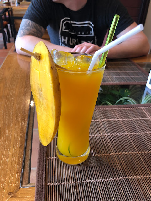 Mango drink in Chiang Mai