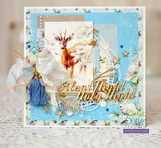 Christmas card by Marina Gridasova @akonitt #card #eyeletoutlet #bling #enamel #by_marina_gridasova