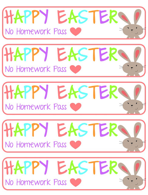 https://www.teacherspayteachers.com/Product/Easter-Homework-Passes-3106727