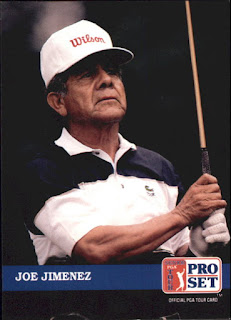 A sports trading card depicting golfer Joe Jimenez