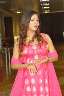 Sindhu Shivarama in Pink Ethnic Anarkali Dress 17.JPG