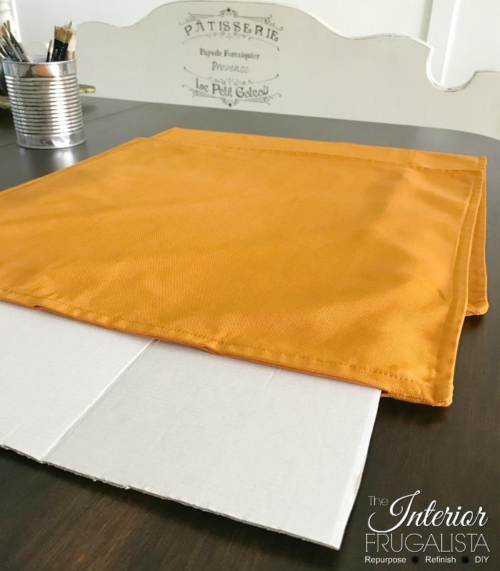 DIY Checkered Fall Pillows Prep