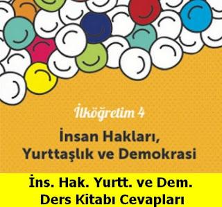 4. Sınıf İnsan Hakları Yurttaşlık ve Demokrasi Meb Yayınları Ders Kitabı Cevapları