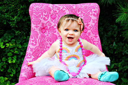 Colorful Rainbow First Birthday Session