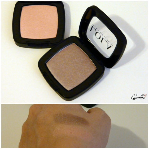 Sombras satinadas 040 y 011 de Lola Make Up