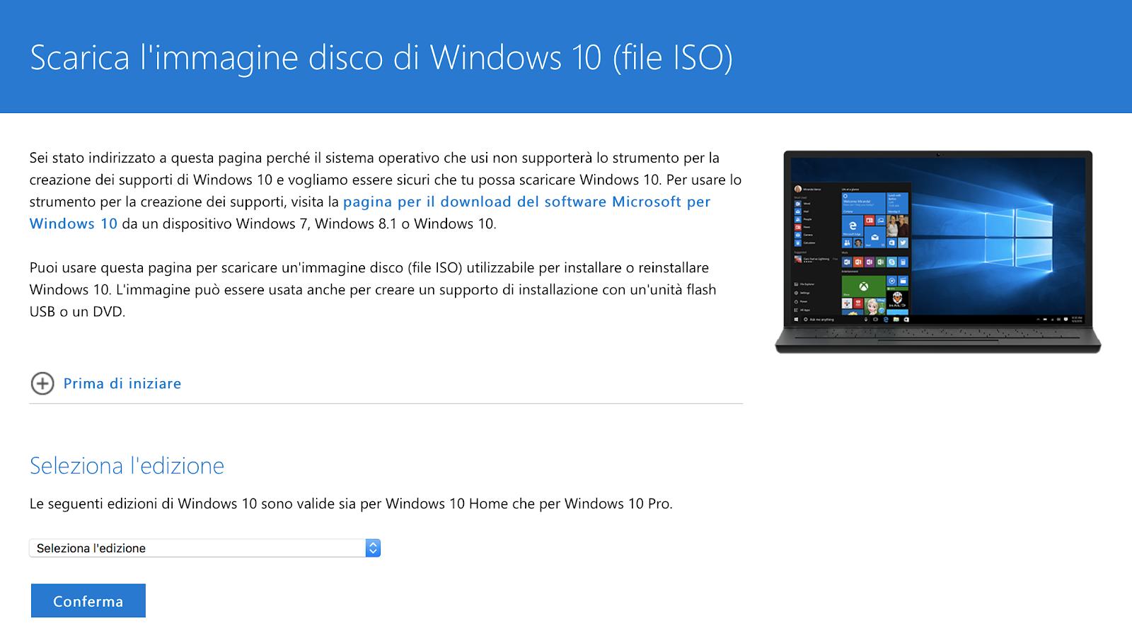 Dove scaricare Windows 10 gratis