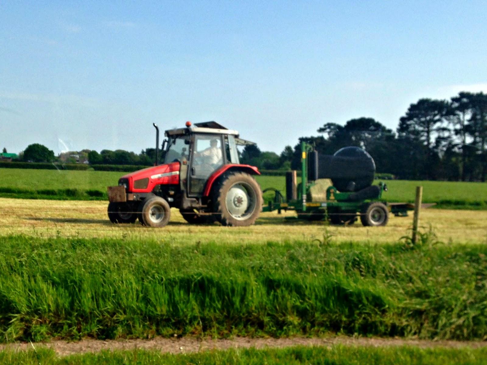 A tactor on Ramley Farm