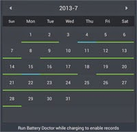 Battery Doctor Calendar History