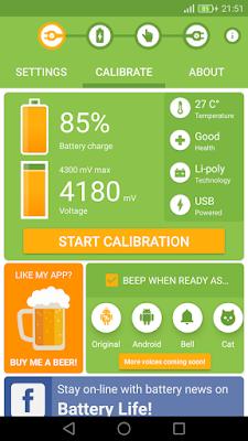 Aplikasi kalibrasi baterai