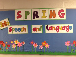 Spring Bulletin Board for Speech Therapy