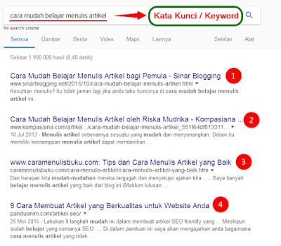 4 Faktor Blog Masuk Halaman Pertama Mesin Pencari Google