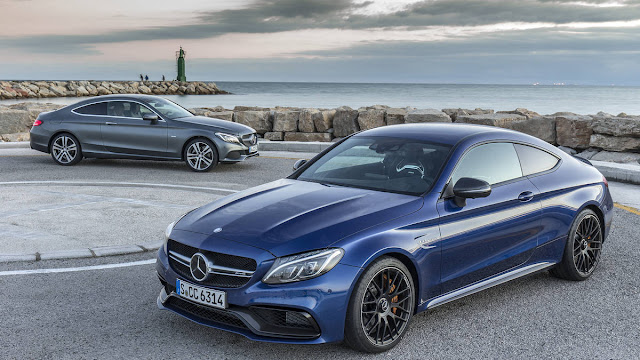 2017 New Mercedes-AMG C63 S Coupe Test Performance front eagle view