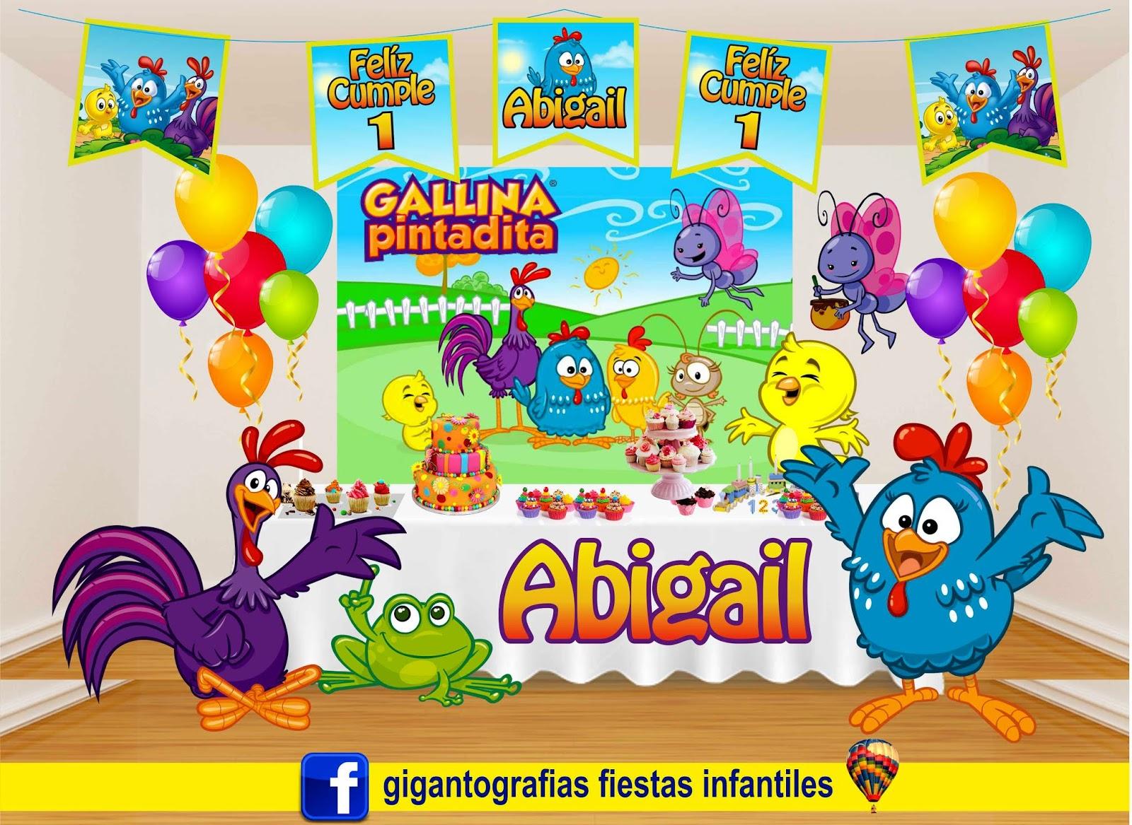 Decoracion Fiesta Infantil De La Gallina Pintadita Decoracion De - Adornos-fiesta-infantil