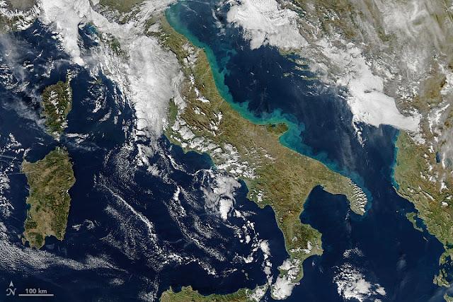 Foto tirada de certa altitude por equipamentos da NASA