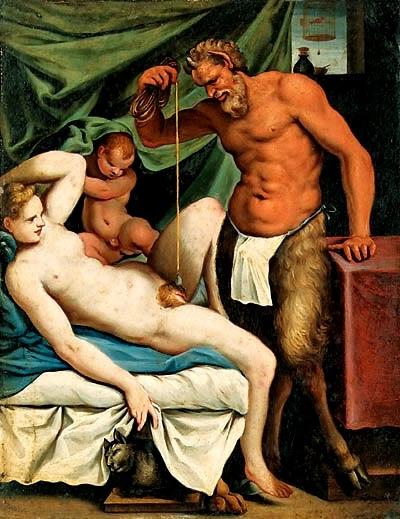 Agostino Carracci - il satiro muratore