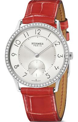 'Hermès Slim d'Hermès 39.5mm watch Gem Setversion