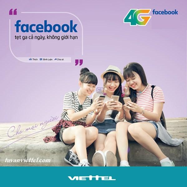 Lướt phây cháy máy với các gói cước 4G Facebook của nhà mạng Viettel