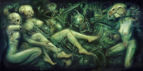 Karl Persson, Macabre Art, Macabre Paintings, Horror Paintings, Freak Art, Freak Paintings, Horror Picture, Terror Pictures