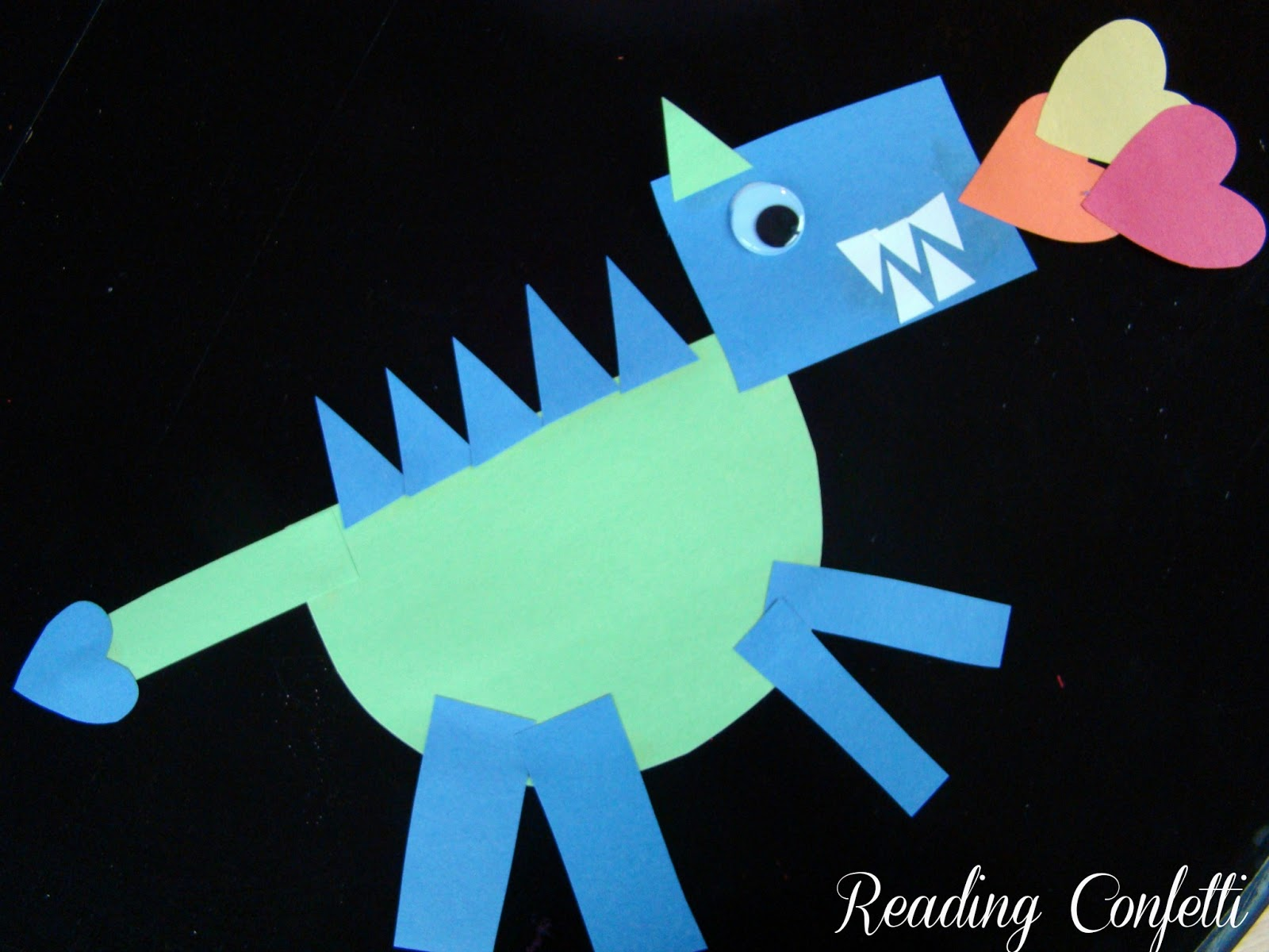 Shape Dragons Studying Illustrations