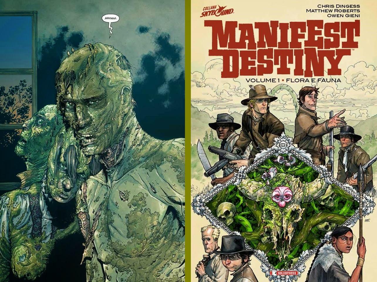 Manifest Destiny, una tavola e la cover