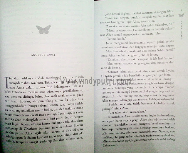 Layout Cantik di Novel STILL ALICE