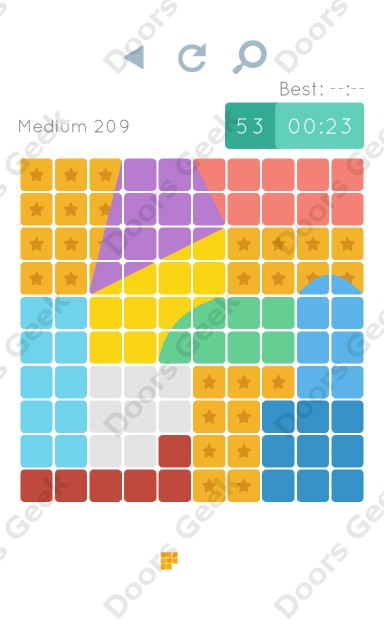 Cheats, Walkthrough for Blocks and Shapes Medium Level 209