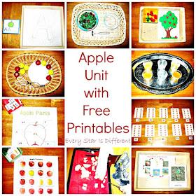 Apple Activities for Preschoolers with Free Printables