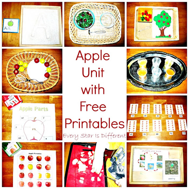 Apple Activities for Preschoolers with Free Printables