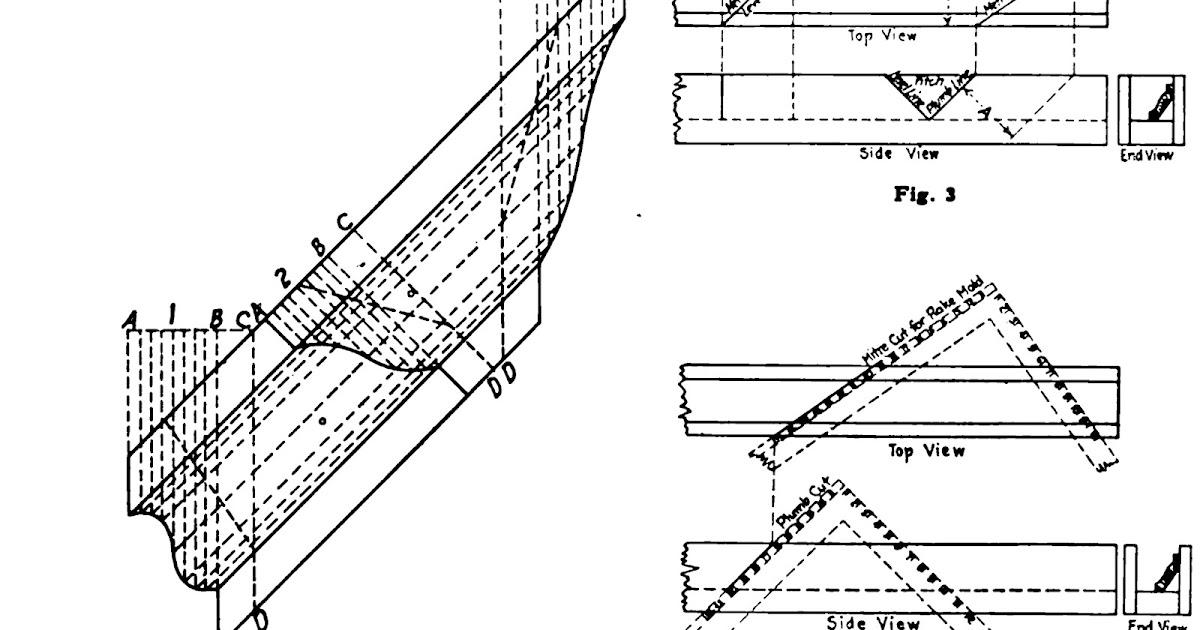 Roof Framing Geometry: Rake Crown Moulding Geometry