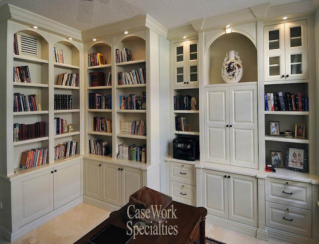 best custom white wood bookcases office furniture for home design