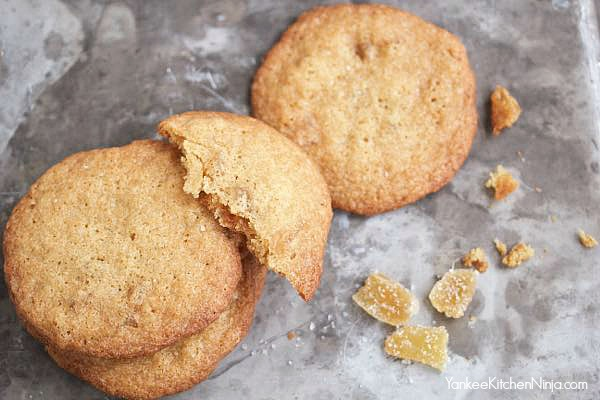 candied ginger cookies copycat Tate's Ginger Zingers recipe