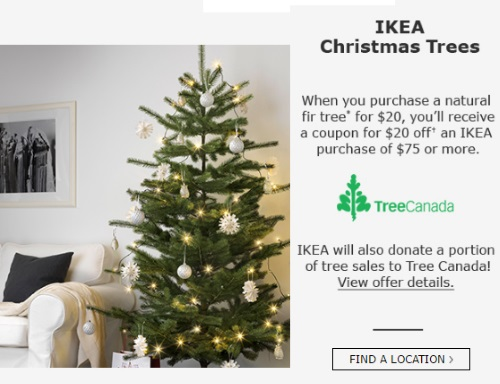 IKEA Christmas Tree $20 Off Coupon