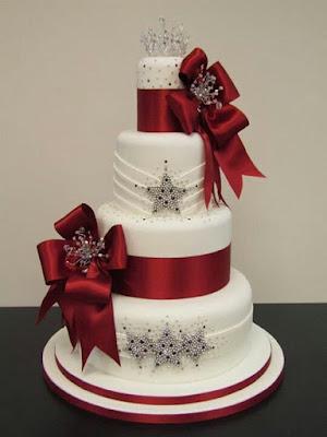 Bolo de casamento para casamento em Dezembro