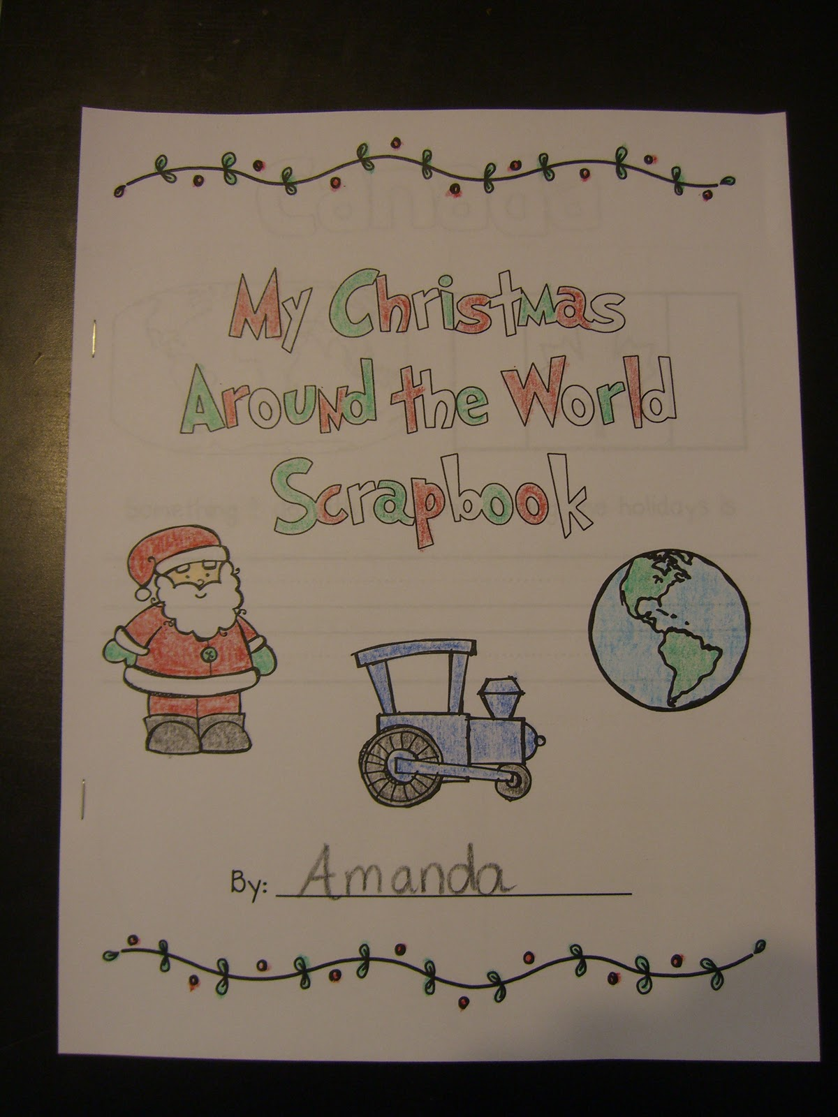 Around The World Fashion Publications: First Grade Garden: Christmas Around The World And Elf On