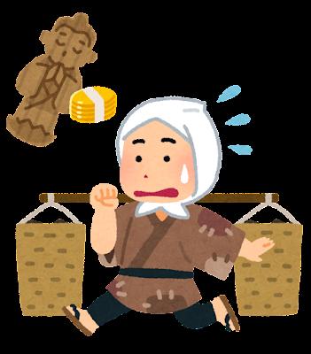 井戸の茶碗のイラスト(落語)